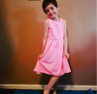 A boy wearing a dress - Aimee.t13