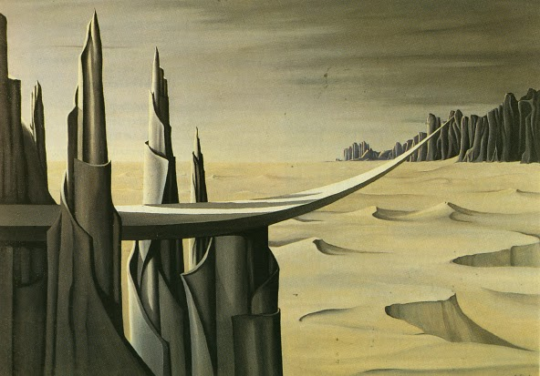 """Danger, Construction Ahead"" by Kay Sage (1940)"