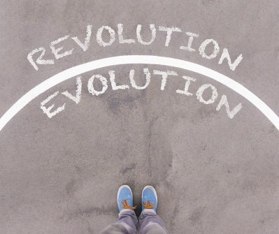 The line between Revolution and Evolution - Dreamstime-86092871