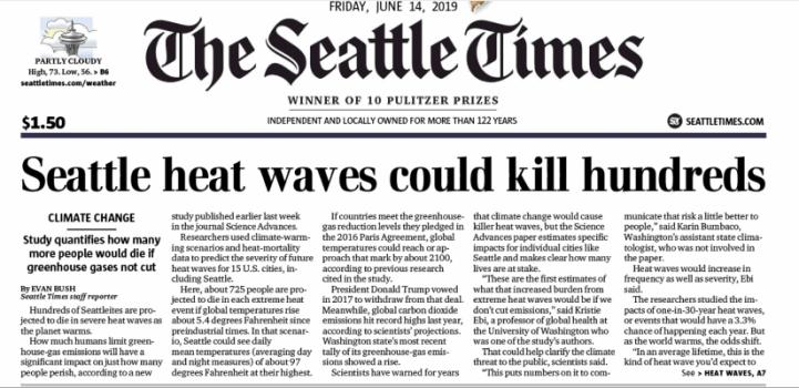 Seattle Heat Waves