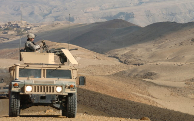 Humvee on patrol