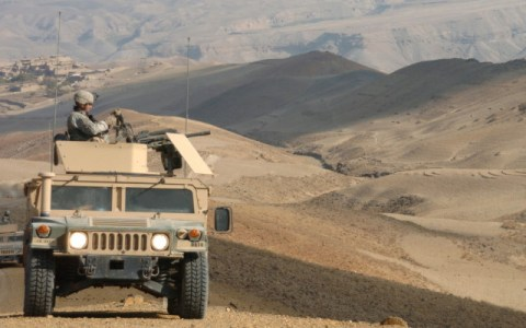 Humvee on patrol