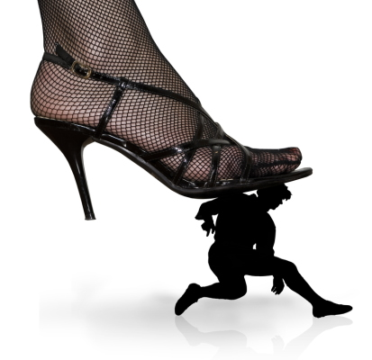 Stiletto stepping on a person - Dreamstime-8889235