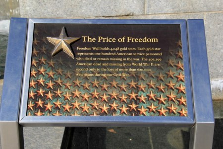Marker on the Freedom Wall