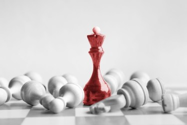 Victorious King among the pawns - Dreamstime-117231082