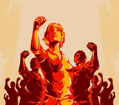 Socialist Realism Inspirational Poster - Dreamstime-121371683