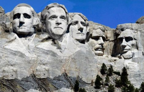 Bush on Mt. Rushmore