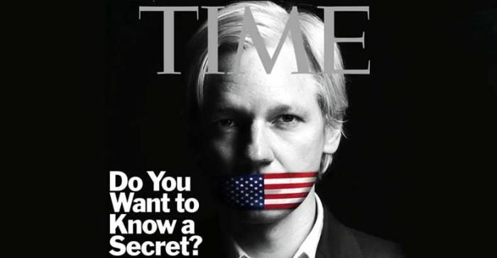 Julian Assange on TIME cover - 13 Dec 2010