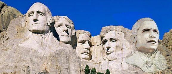 Obama on Mt. Rushmore
