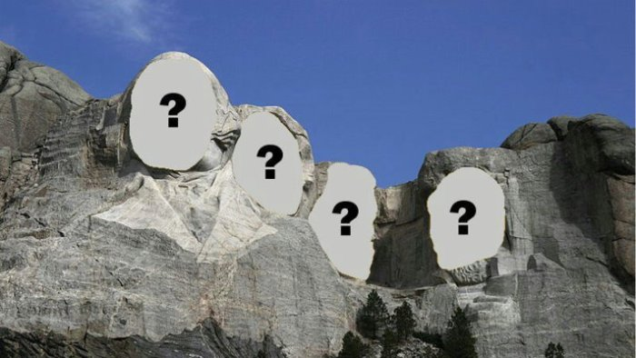 Question Marks on Mount Rushmore