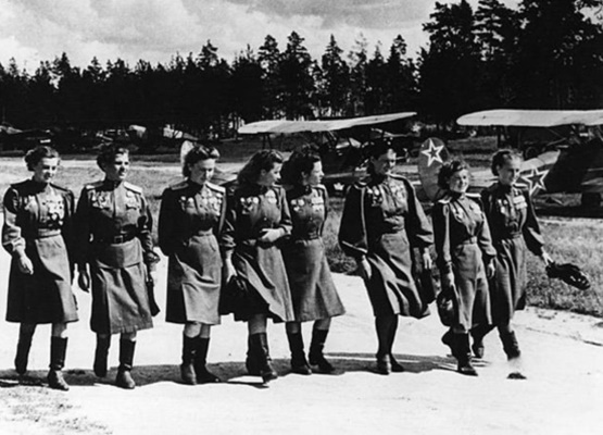 Night Witches on parade