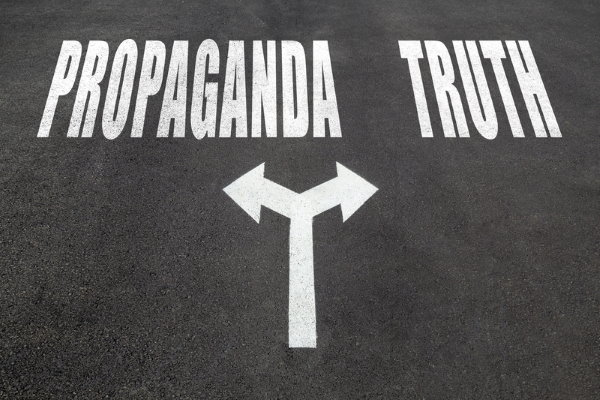 Propaganda vs Truth - Dreamstime-101334209