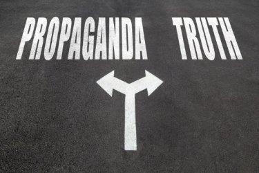Propaganda vs Truth - Dreamstime-101334209