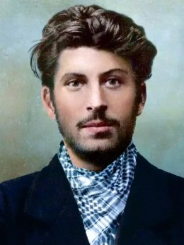 Colorized photo of Stalin at age 23, taken 1 April 1902