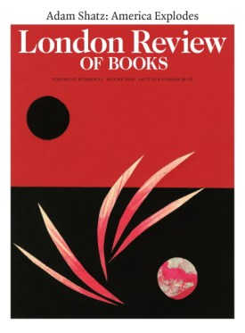 Cover of the London Review of Books, 18 June 2020