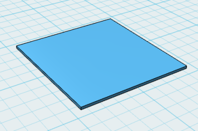 Test square in 123D Design