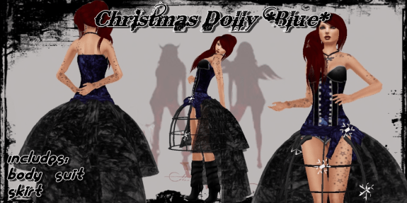 Christmas Dolly blue