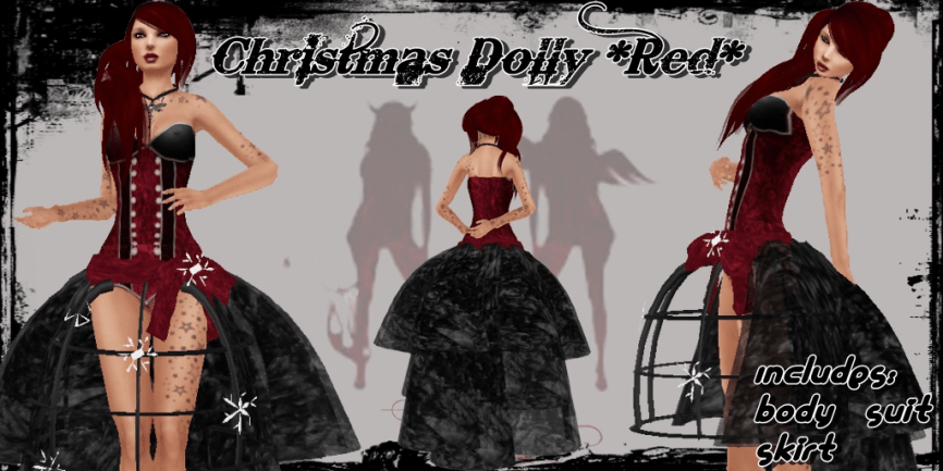 Christmas Dolly Red