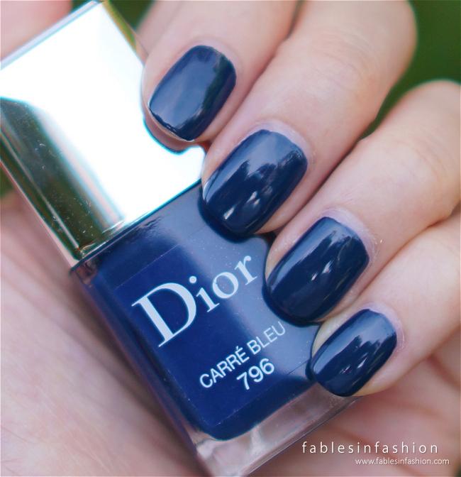 Dior vernis 796 carre bleu review swatches and photos for Carre bleu