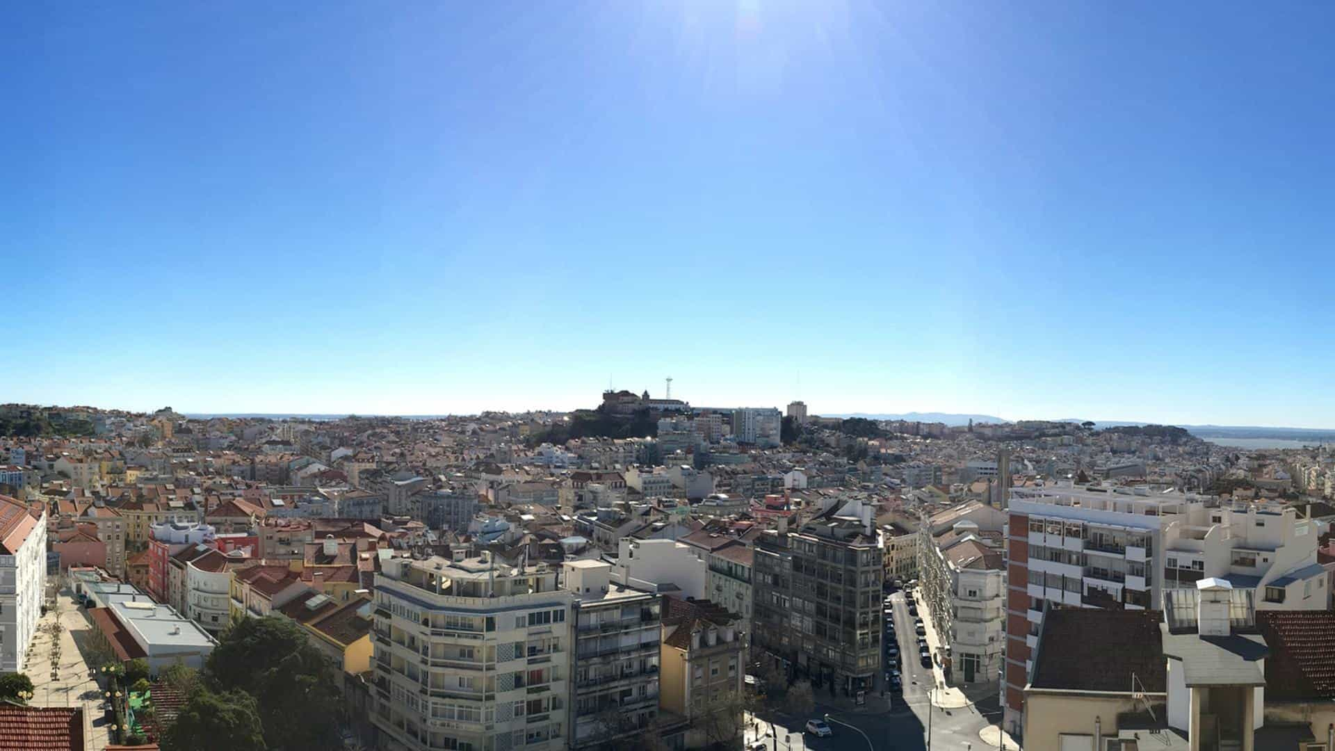 You get a wonderful view of Lisbon from the (top) 7th floor