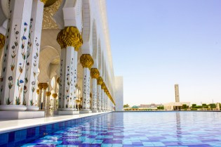 Love the small pools outside the Sheikh Zayed Grand Mosque in Abu Dhabi