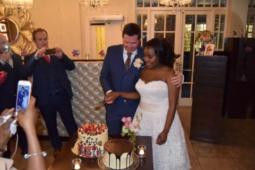 About to cut the cake
