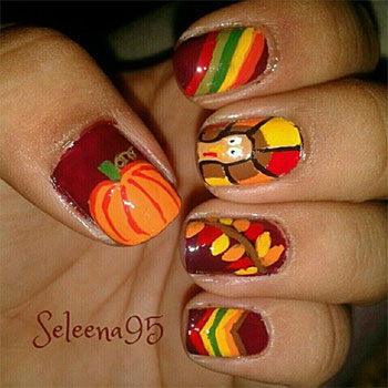 Thanksgiving Nails Design Nail Art 2016 Festive Designs For Your On Turkey Industriet