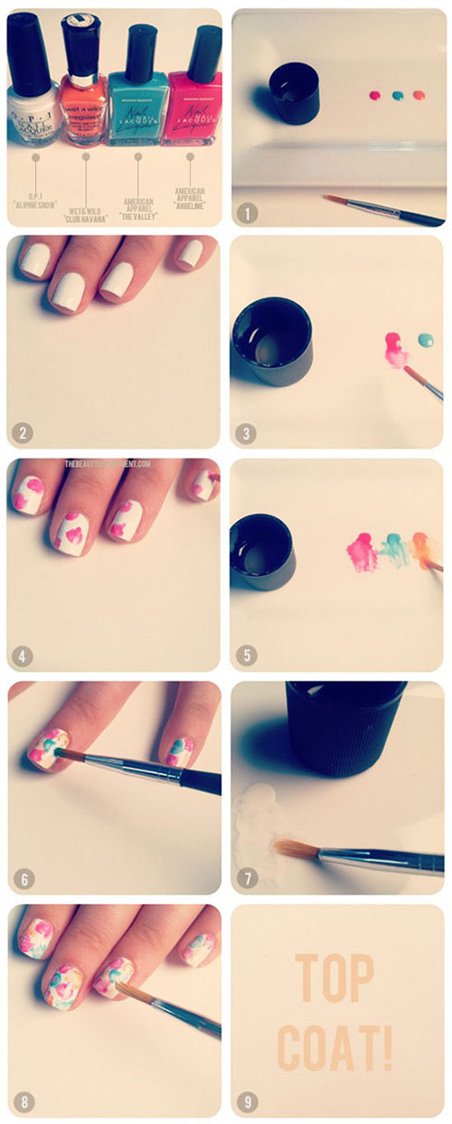 Step By Nail Art Tutorials For Beginners Learners 2017 7 Jpg Continue Reading 55 Super Easy Designs