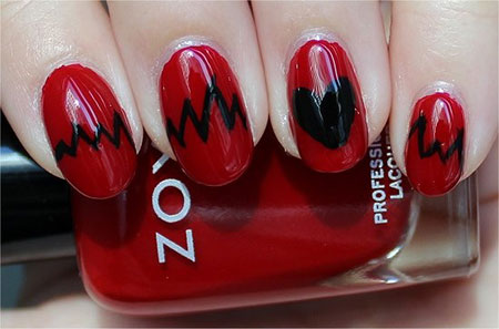 Easy Red Nail Art