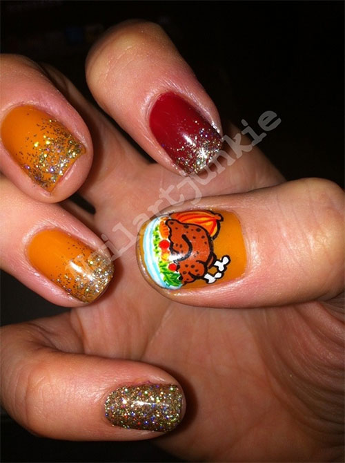 12 Easy Cute Thanksgiving Nail Art Designs Ideas