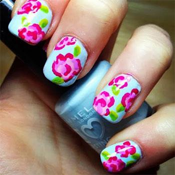Simple Easy Flower Nail Art Designs Ideas 2017