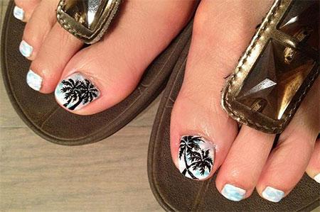 Cool Pretty Toe Nail Art Designs Ideas For