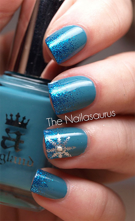 Easy Simple Winter Nail Art 2017 For
