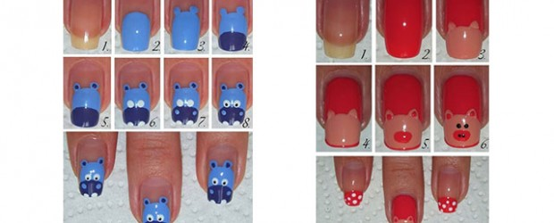 Simple Easy Zoo Farm Animals Nail Art Tutorial 2017 For Beginners