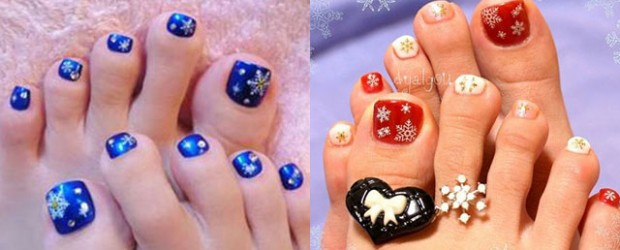 Winter Toe Nail Art Designs Ideas For S 2017