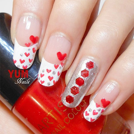 Heart Nail Designs Ideas For Valentines Day 2017