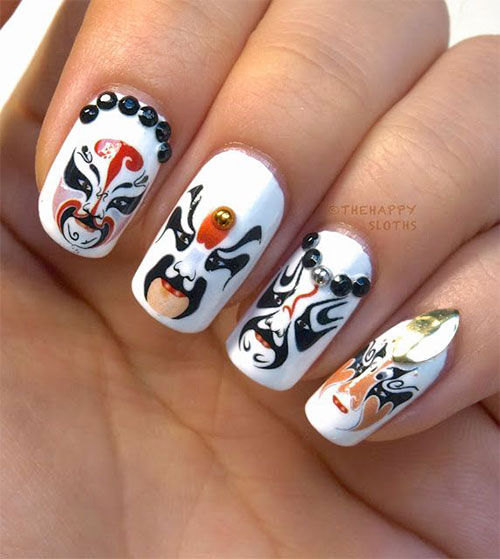 Inspiring Chinese New Year Nail Art Designs Amp Ideas 2014