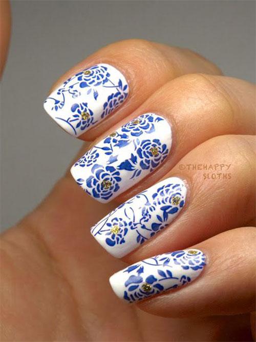Stunning Chinese Symbol Amp Flower Nail Art Designs Amp Ideas