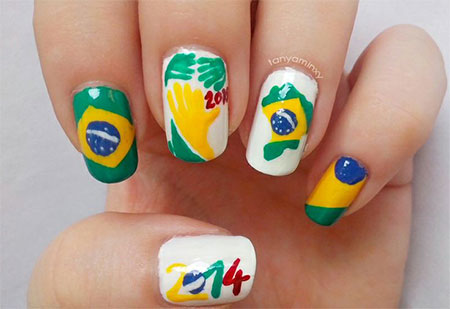 25 Fifa World Cup 2017 Brazil Nail Art