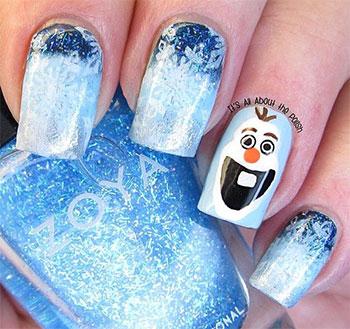 Easy Disney Frozen Inspired Nail Art Tutorials For