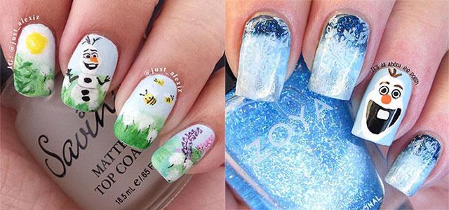 15 Disney Frozen Olaf Nail Art Designs Ideas Trends Stickers 2017 Nails Fabulous
