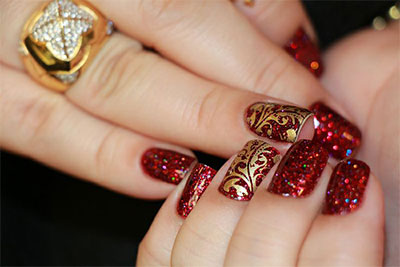 This Is Very Easy To Create As Well Maintain You Will Have Paint Your Nails With A Neutral Base Add Some Pink Glitters And Silver Sequences Give