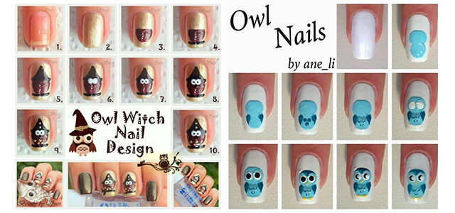 10 Easy Step By Owl Nail Art Tutorials For Beginners 2017 Fabulous Designs