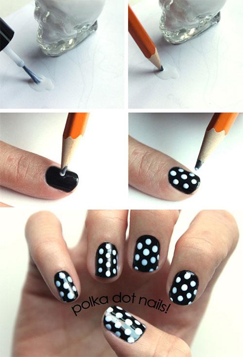 20 Simple Step By Polka Dots Nail