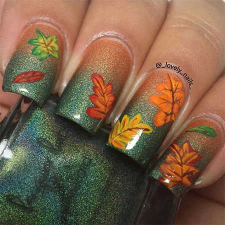 15 Best Autumn Leaf Nail Art Designs Ideas