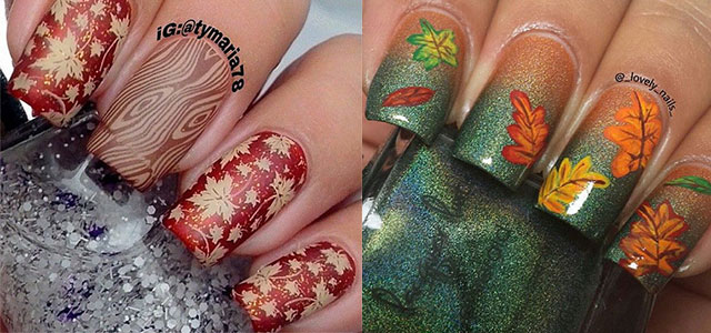 15 Best Autumn Leaf Nail Art Designs Ideas Trends
