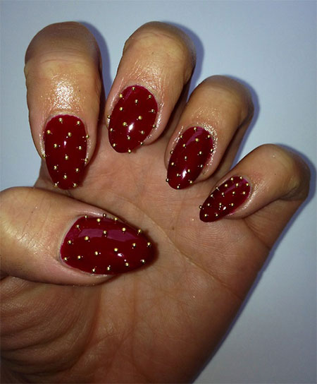 Red Nail Art Design Idea