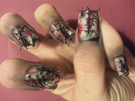 15 Creepy Zombie Nail Art Designs Ideas