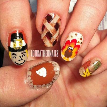 10 Turkey Nail Art Designs Ideas Trends Stickers