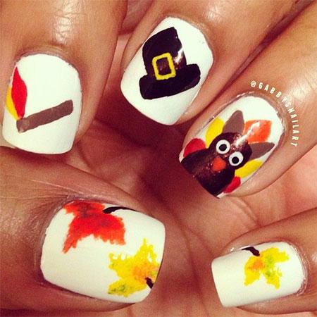 Nail Art Designs Thanksgiving 2017